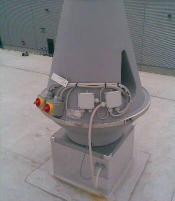 Dachventilator in Betrieb