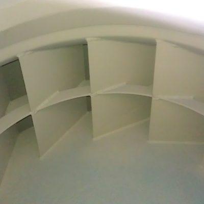 Detailaufnahme eines Laufrades bei einem Radialventilator