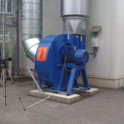 Schallmessung bei einem Ventilator