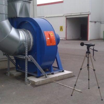 Durchführung einer Schallmessung bei Ventilatoren
