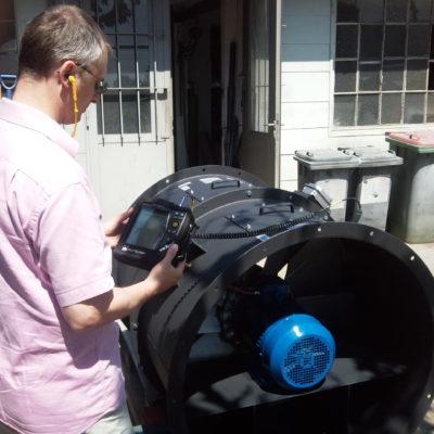 Durchführung einer Schwingungsanalyse eines Axialventilators