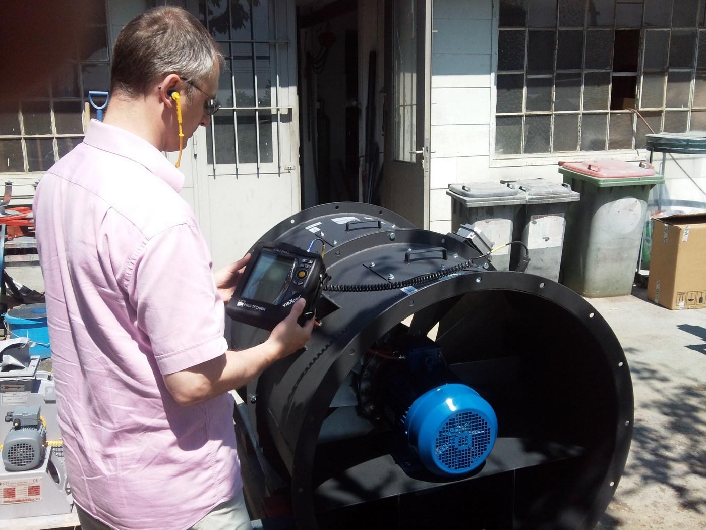 Vibrationsanalyse bei einem Ventilator