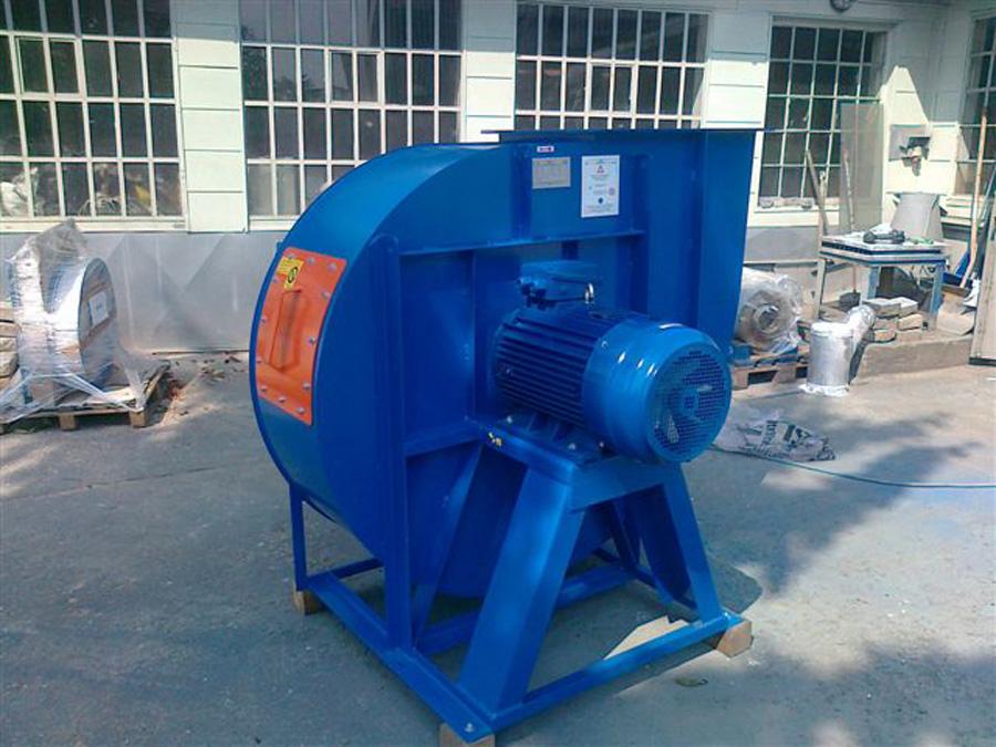 Blauer Radialventilator