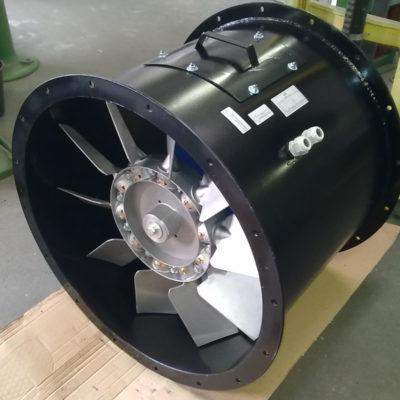 Axialventilator in schwarzer Farbe
