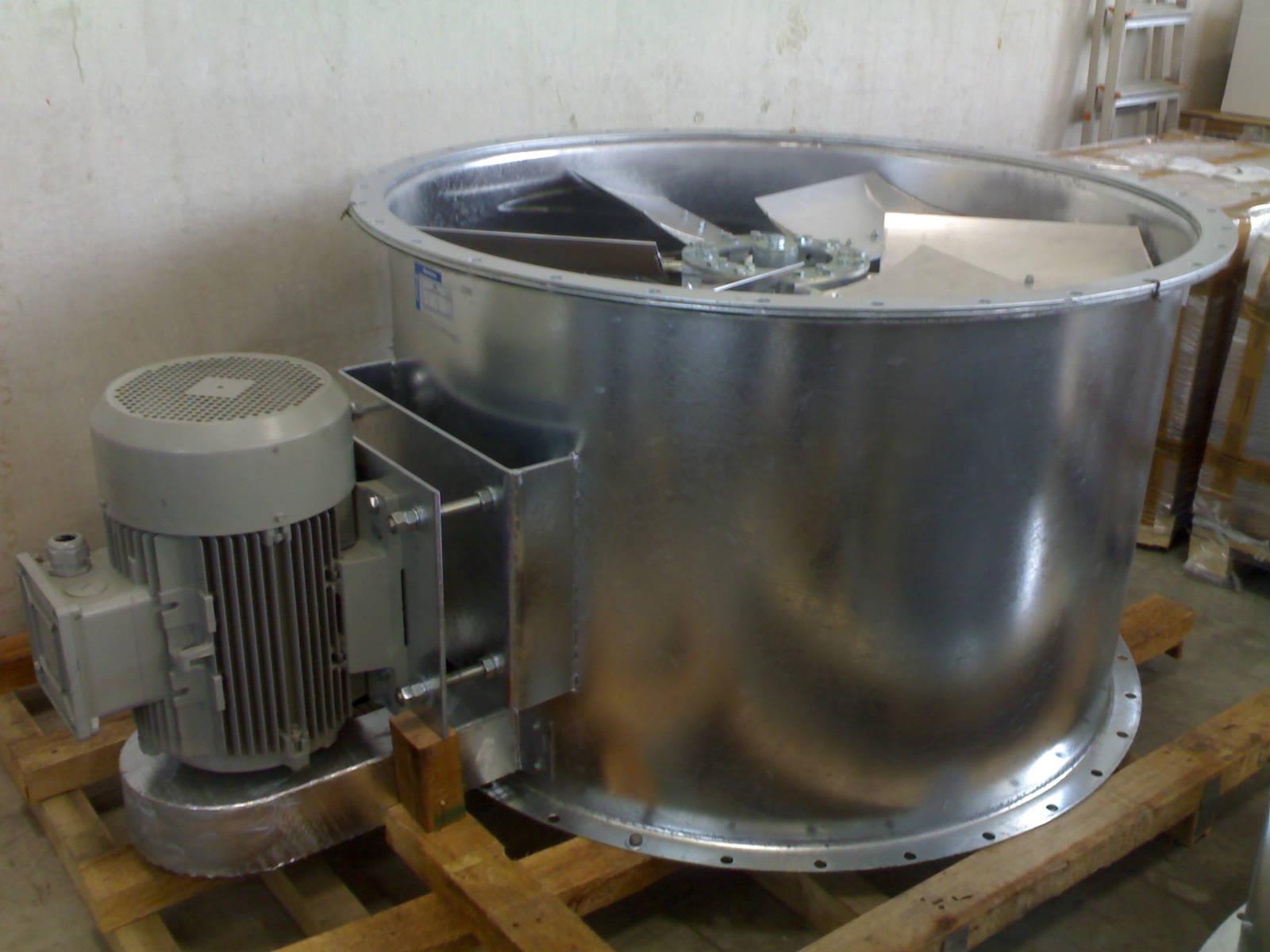 Axialventilator mit Keilriemenantrieb