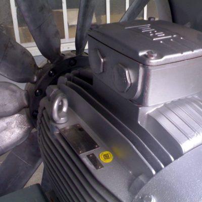 Detailansicht eines Brandgasventilators