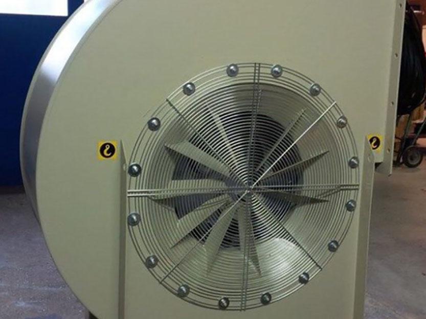 Laufrad eines Hochdruck Radialventilators für die Heutrocknung