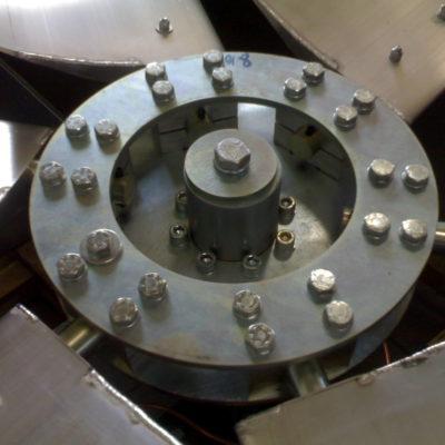Blick auf eine Nabe eines Axialventilator-Laufrades
