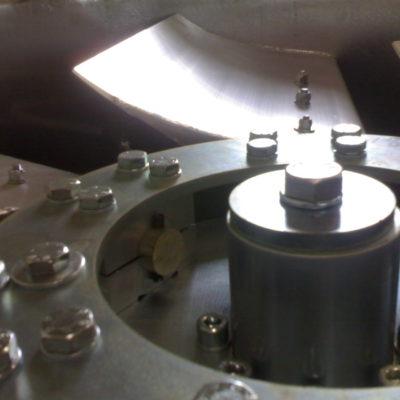 Grossaufnahme eines Laufrades eines Axialventilators