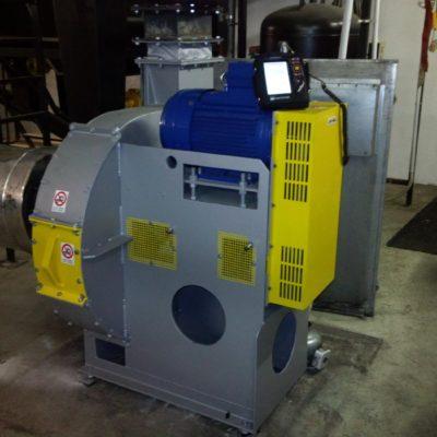 Durchführung einer Vibrationsanalyse bei einem Ventilator